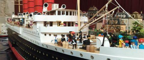 Una recreación del Mauritania, de casi cinco metros de eslora, desembarcará en el Museo de la Técnica durante la 4ª Feria de Playmobils